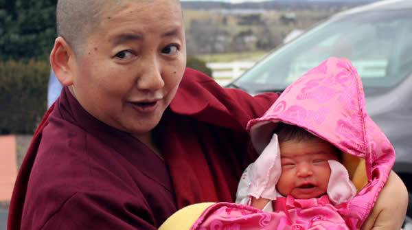 Jetsün Khandro Rinpoche introduces her niece Jetsün Gautami Thrinley Choedron, December 2012