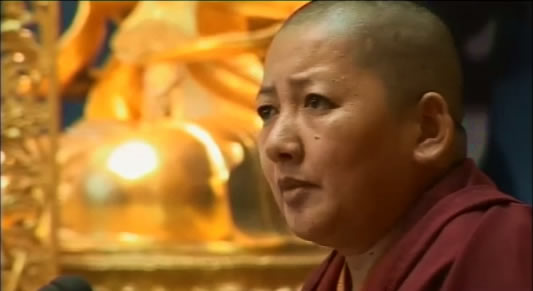 Rinpoche teaching at Lerab Ling, France