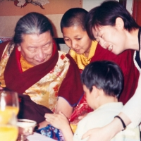 Mindrolling family with Jetsün Khandro RInpoche (center)