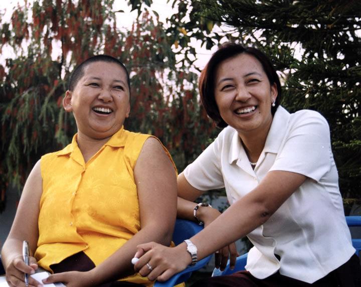 Jetsün Khandro Rinpoche and Jetsün Dechen Paldrön