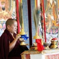 Jetsün Khandro Rinpoche bestowing the Rigzin Thugthig empowerment at Lotus Garden in September 2012.