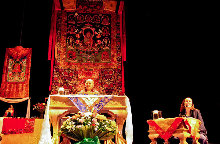 Jetsün Khandro Rinpoche teaching in Mexico City, July 2012.