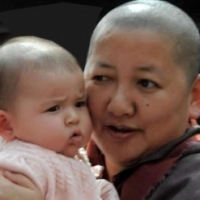 Jetsün Khandro Rinpoche and Jetsün Gautami Thrinley Choedron, 2013.