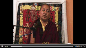 Rinpoche teaching in Denmark.