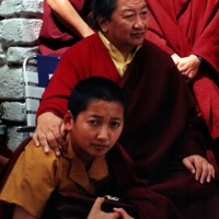 His Holiness Mindrolling Trichen Rinpoche and Jetsün Khandro Rinpoche.