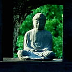 Buddha of the kyudo shrine