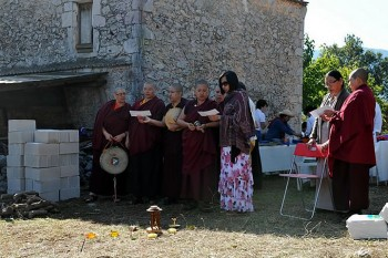 The ritual ceremony of requesting the land for the new retreat centre Rigdzin Gatsal