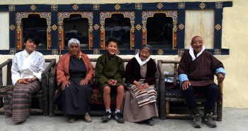 Members of Lama Kunga la's family.