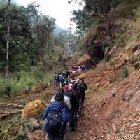 Ascending to Paro Chumpung Nye.