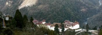 Trongza Dzong, Bhutan's oldest fortress, built in 1543.