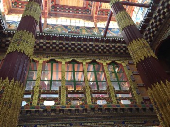 View of interior of new Konchogsum Lhakhang.
