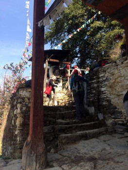 Entrance of Tamshing Lhakhang.