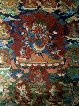 Vajrakilaya mural in the new Konchogsum Lhakhang.