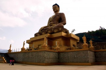 Buddha Dordenma at Kuensel Phodrang in Paro, Bhutan.