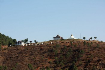 View of Talo Sangha Choling Nunnery from road.
