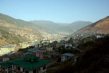 View of Thimphu from Kuensel Phodrang.