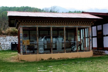 Dilgo Khyentse's automobile preserved in the Memorial Museum in Paro, Bhutan.