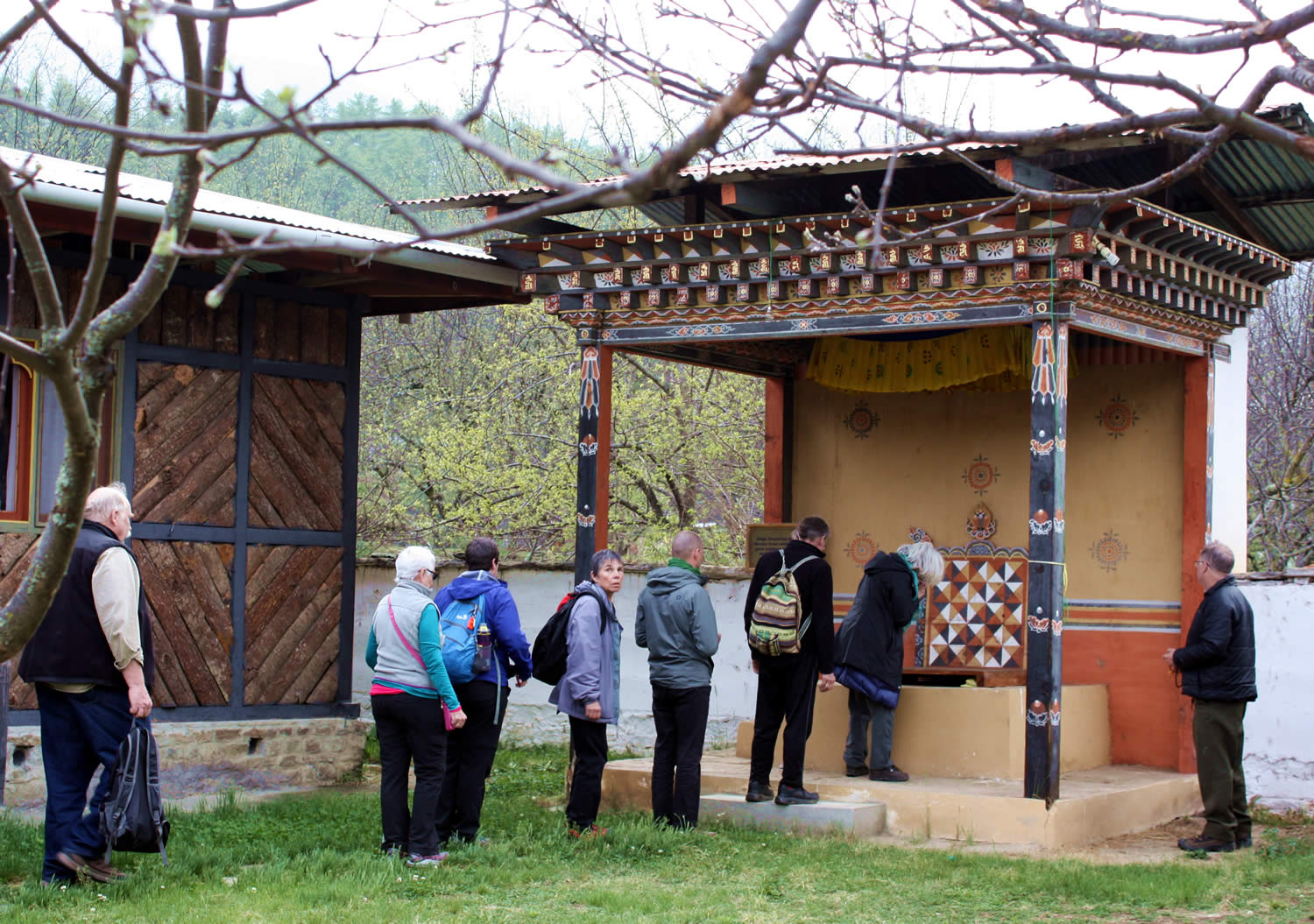 The throne, adjacent to his home, from which Dilgo Khyentse Rinpoche gave teachings, Paro, Bhutan.