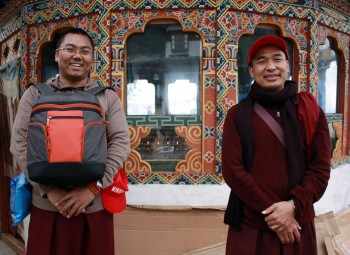 Ven. Namdrol Gyatso la and Ven. Thrinley Gyaltsen at Kila Gompa.