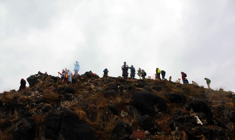 The charnel ground Pema Tsek (Lotus Mound).