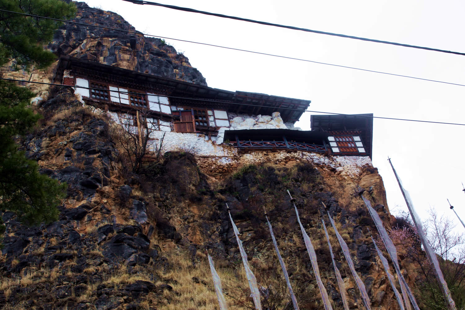 View of the shrine built around the cave of Guru Rinpoche.