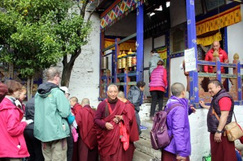 Entrance to Kichu Yenden Monastery established by Kyabje Dilgo Khyentse Rinpoche.