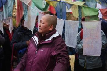 Rinpoche at Drak Karpo