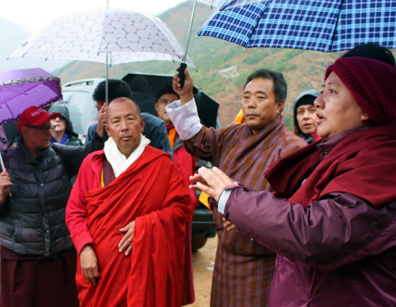 Jetsün Khandro Rinpoche, the abbot of Kila Gompa and Tenpa Choepel la.