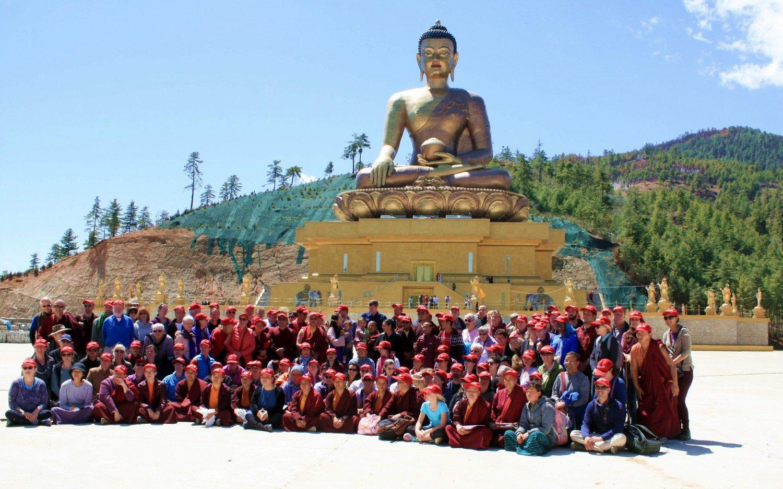 Pilgrimage group at Kuensel Phodrang