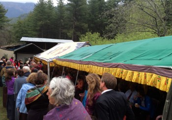 The tea at Lama Kunga's family home.