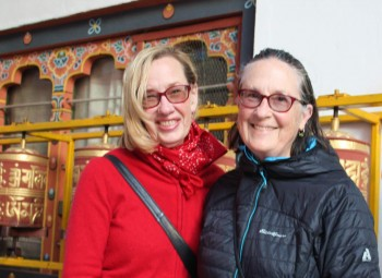 Lopön Barbara Ryan and Lopön Helen Berliner in Thimphu.