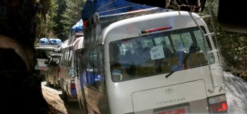 View of bus caravan.