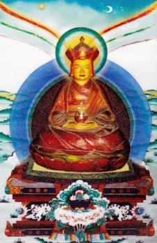 Tertön Pema Lingpa—image from Konchogsum Lhakhang.