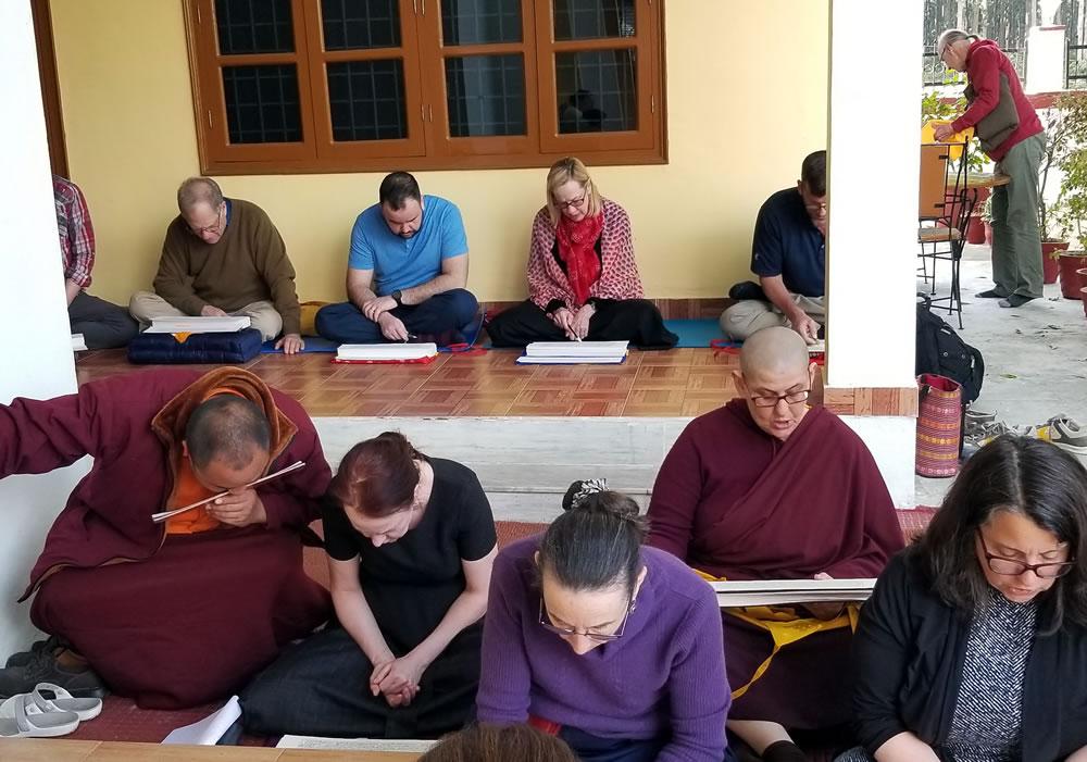 Tibetan reading class
