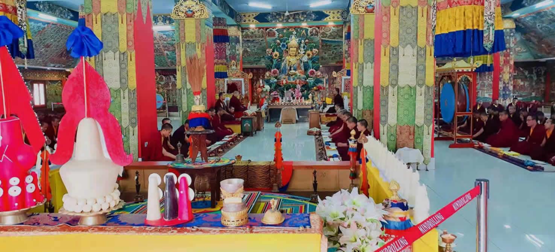Prayers at Mindrolling Monastery mark the passing of Gyari Rinpoche