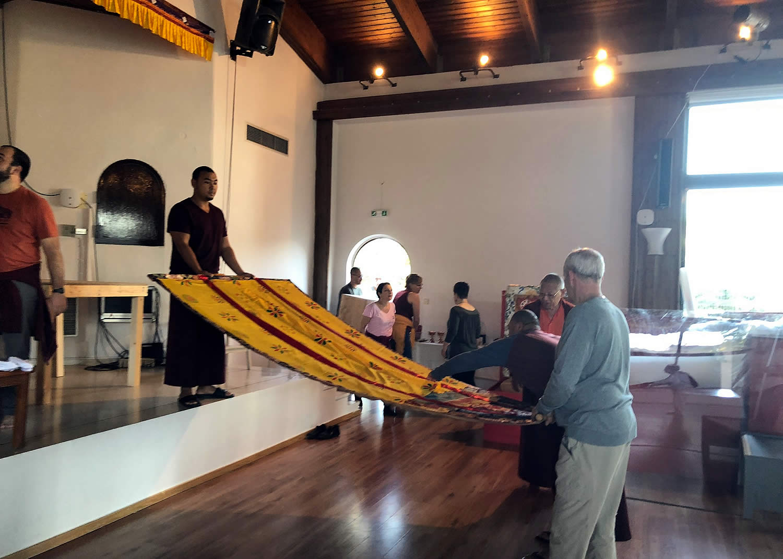 Mahasangha 2018 - Shrine Room Set-Up